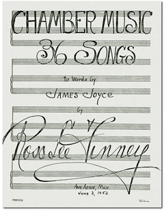 Autograph title page of Finney's Chamber Music