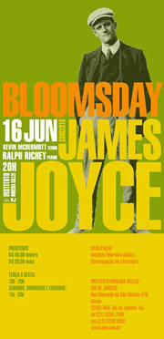 Poster for 2010 Bloomsday Concert in Rio de Janeiro