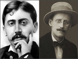Marcel Proust and James Joyce